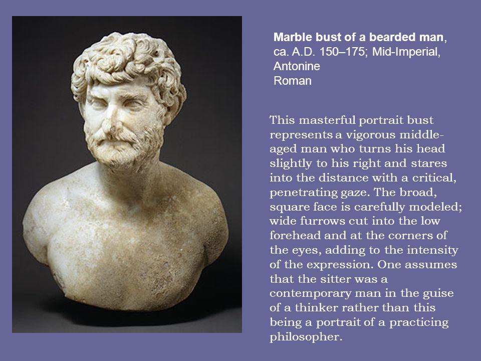 Marble bust of a bearded man, ca.A.D.