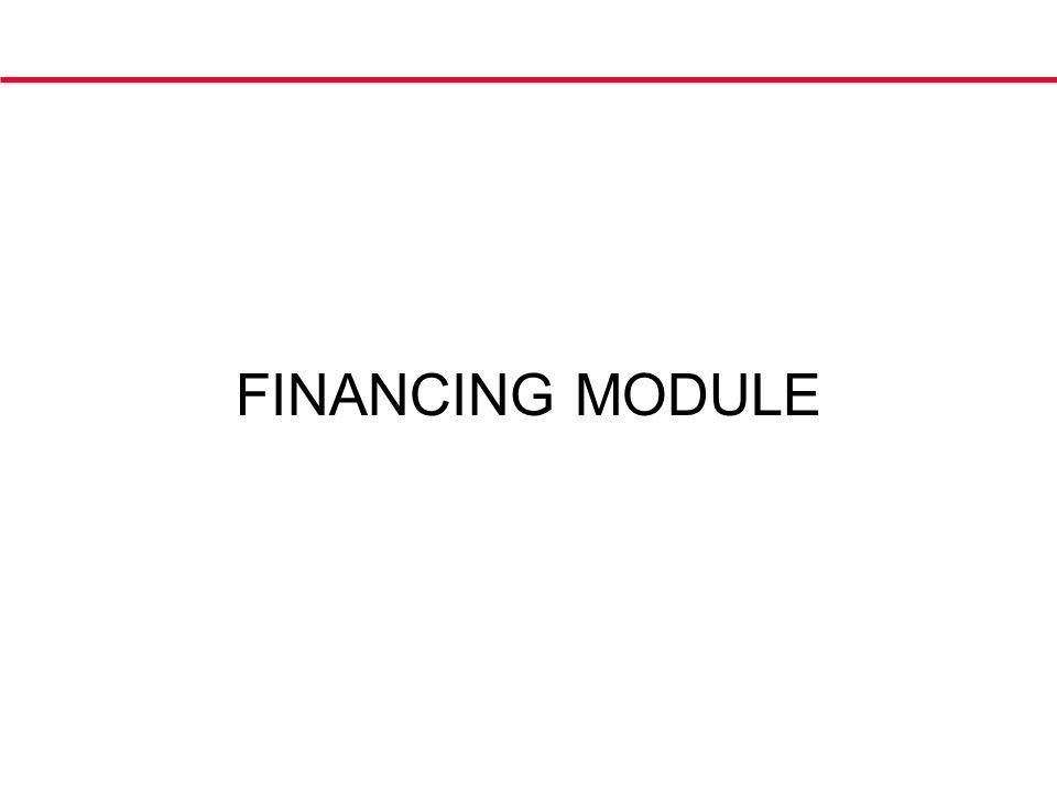 FINANCING MODULE