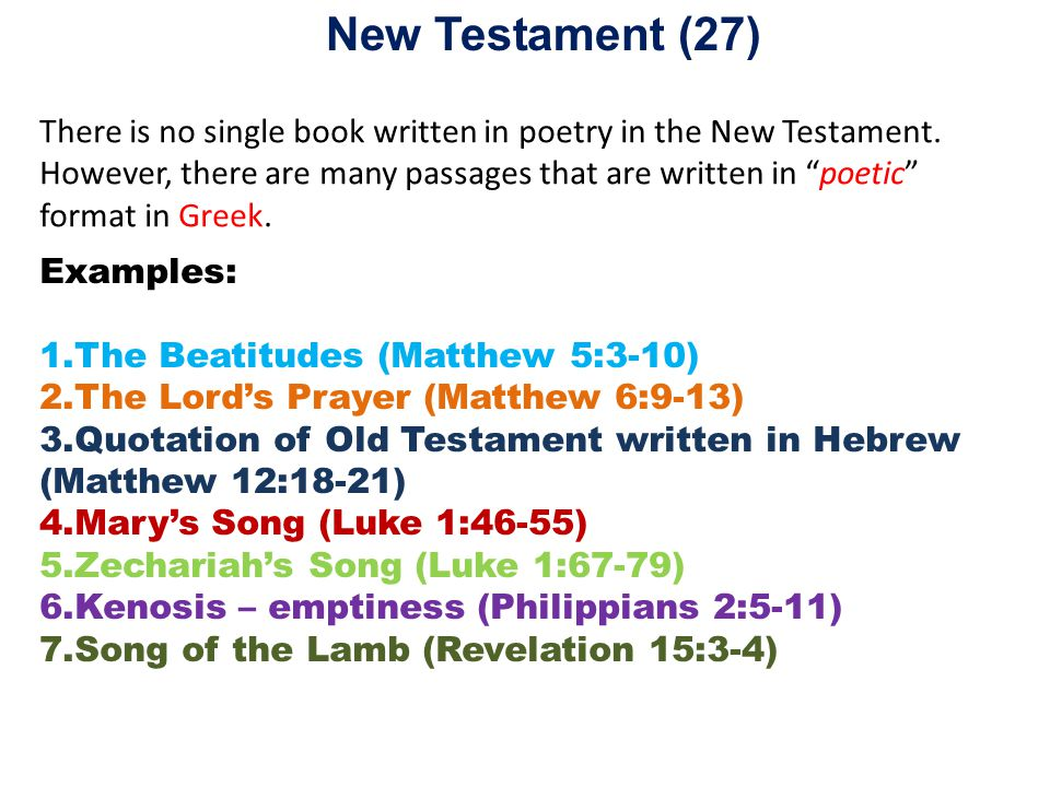 Why are some books in the Bible written as poetry?