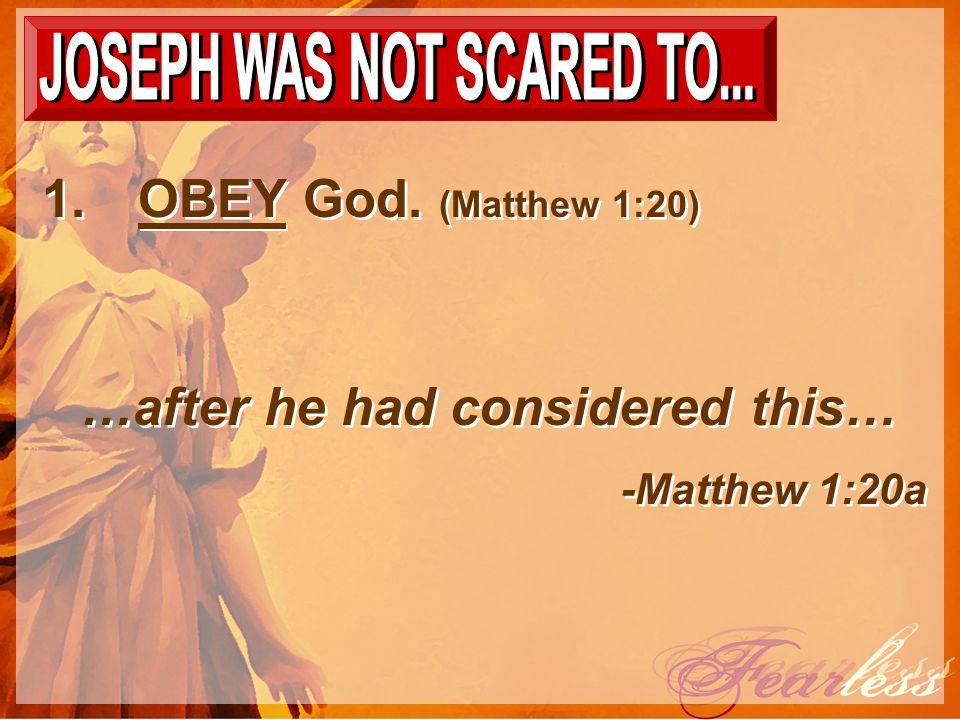 1.OBEY God.