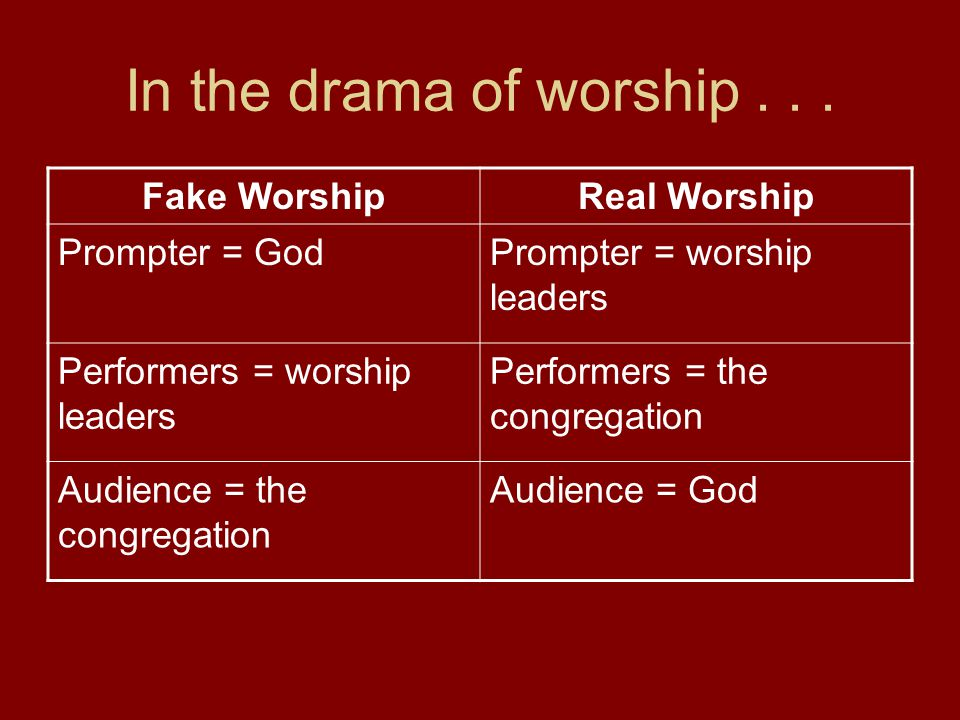 Aims in Worship Service 1.The Upward Aim: We want the worship to please and glorify God.