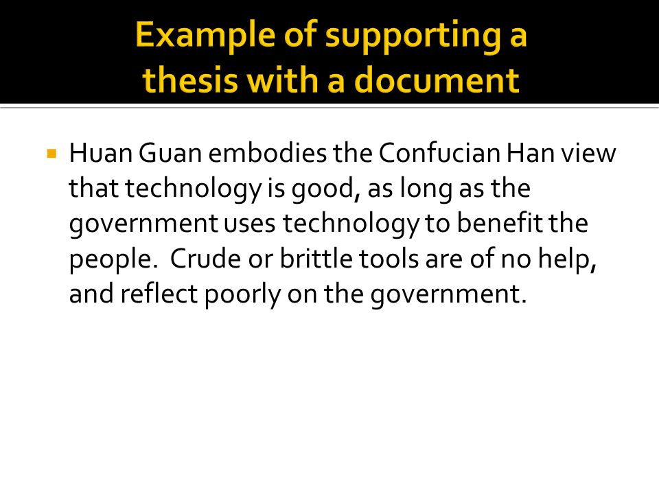  Huan Guan embodies the Confucian Han view that technology is good, as long as the government uses technology to benefit the people. Crude or brittle