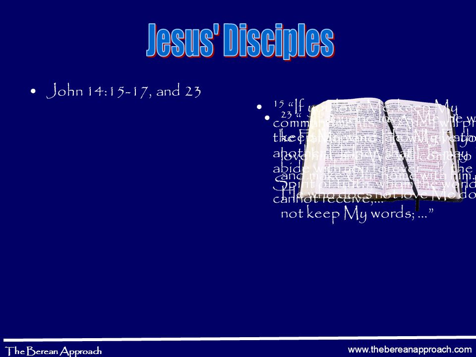 www.thebereanapproach.com The Berean Approach =John 3:19 – And this is the condemnation, that the light has come into the world, and men loved [agapao] darkness rather than light, because their deeds were evil. =Luke 11:43 – Woe to you Pharisees.