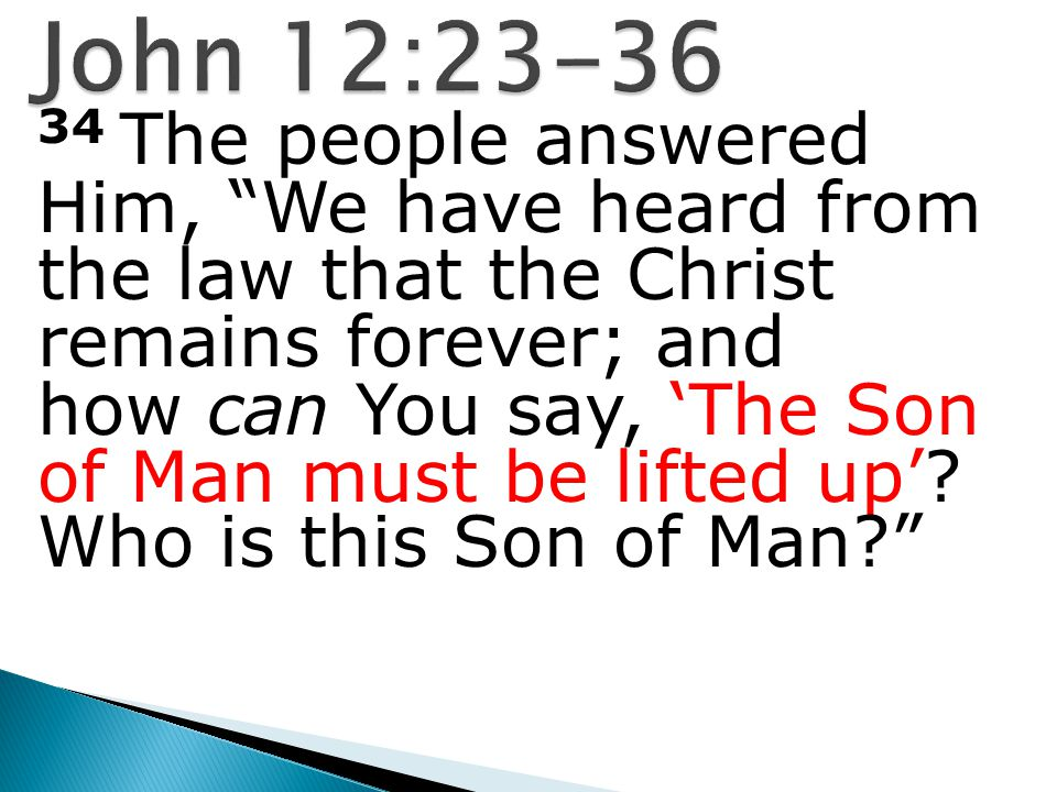 35 Then Jesus said to them, A little while longer the light is with you.