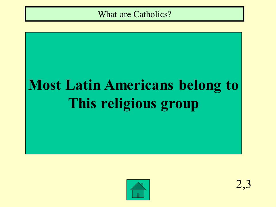 5,1 The two greatest influences left by the Spanish colonizers What are language and religion?