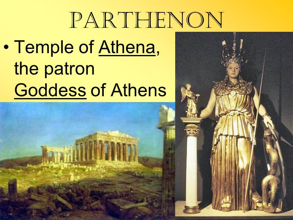 Parthenon Temple of Athena, the patron Goddess of Athens