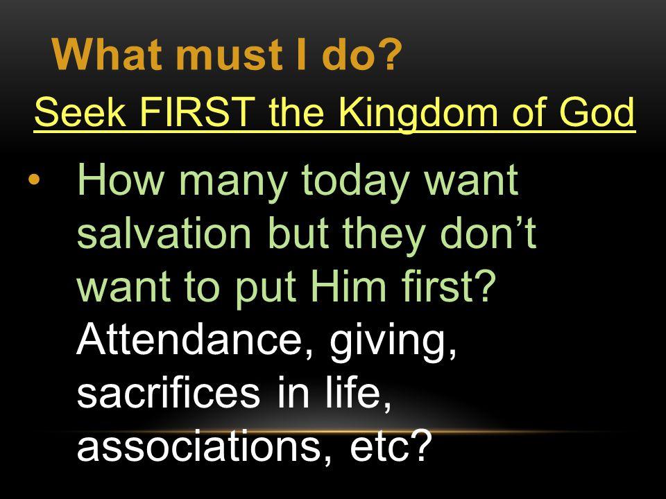 What must I do.Reverence & Glorify God. Rom.