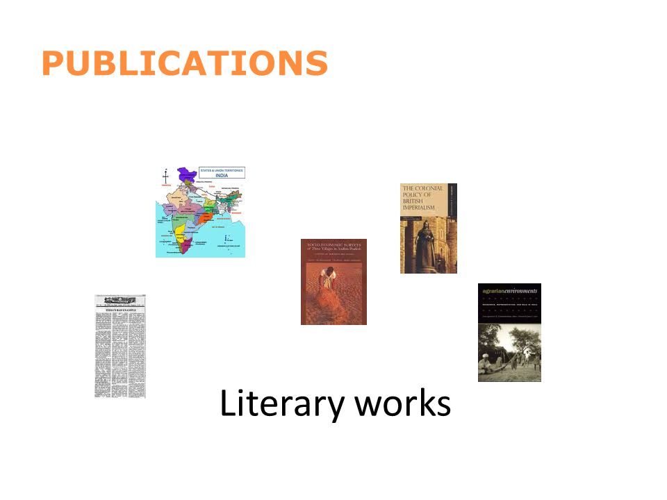 Literary works PUBLICATIONS