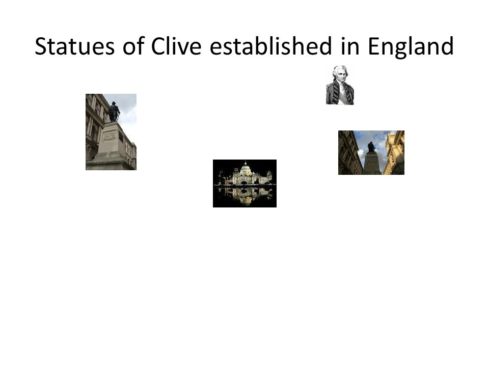 Statues of Clive established in England