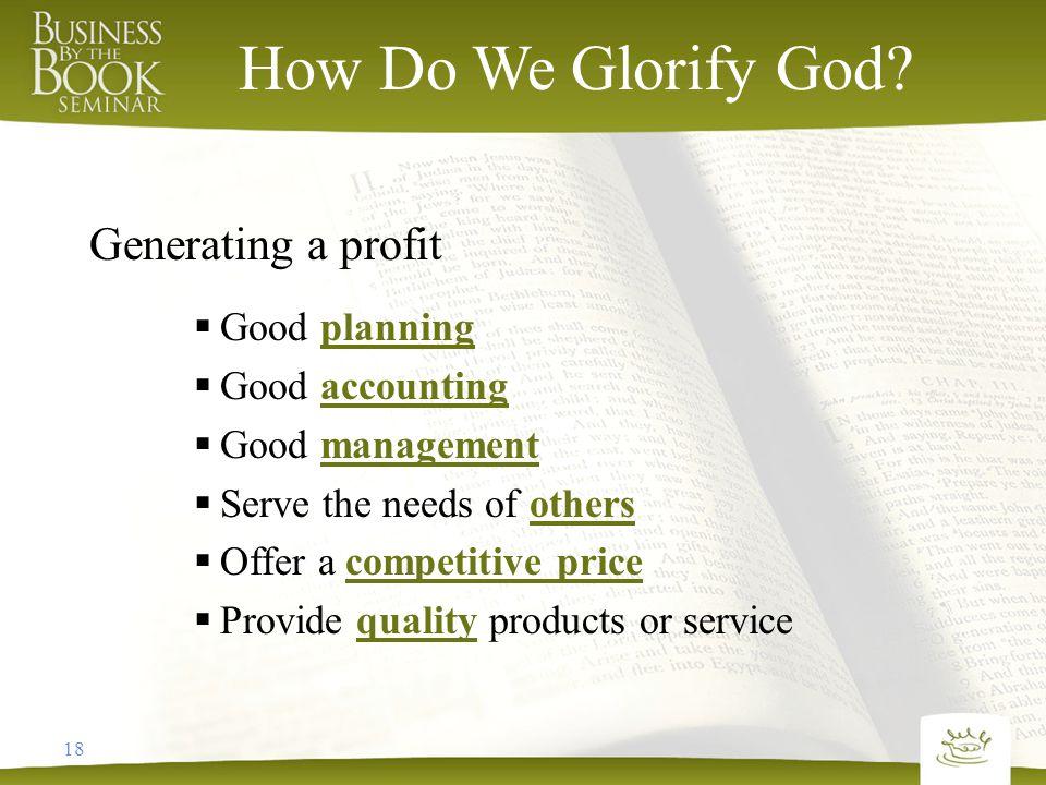 18 How Do We Glorify God.