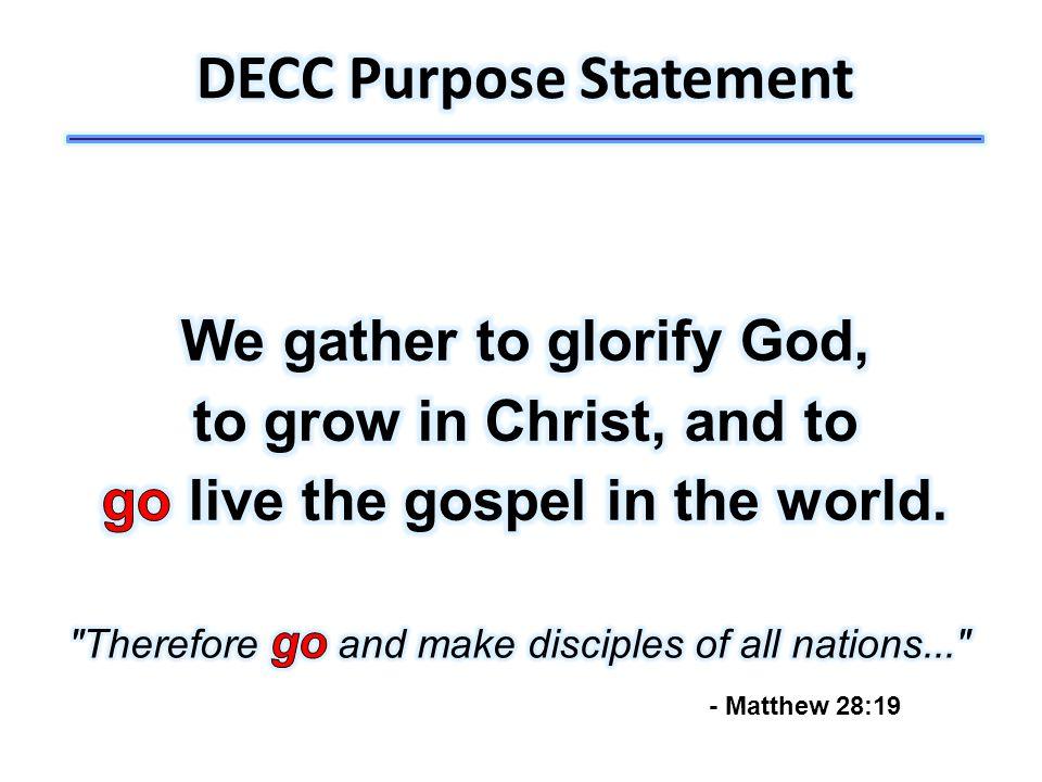- Matthew 28:19