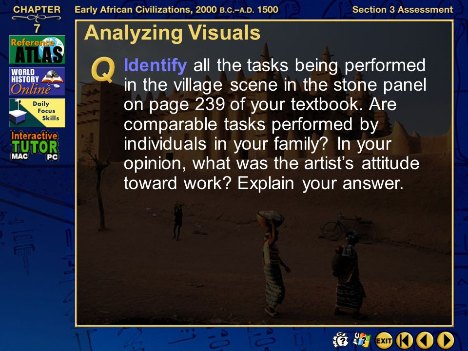 Section 3-36 Critical Thinking Click the mouse button or press the Space Bar to display the answer. Identify Opinions Explain how art, music, and danc