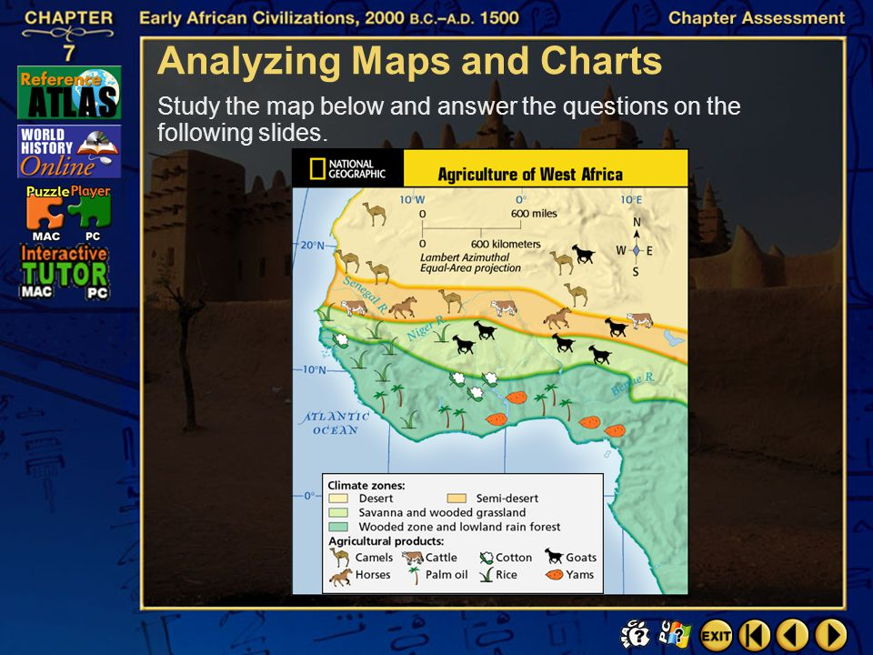Chapter Assessment 8 Critical Thinking Click the mouse button or press the Space Bar to display the answer. Analyzing Compare the growth of Islam with