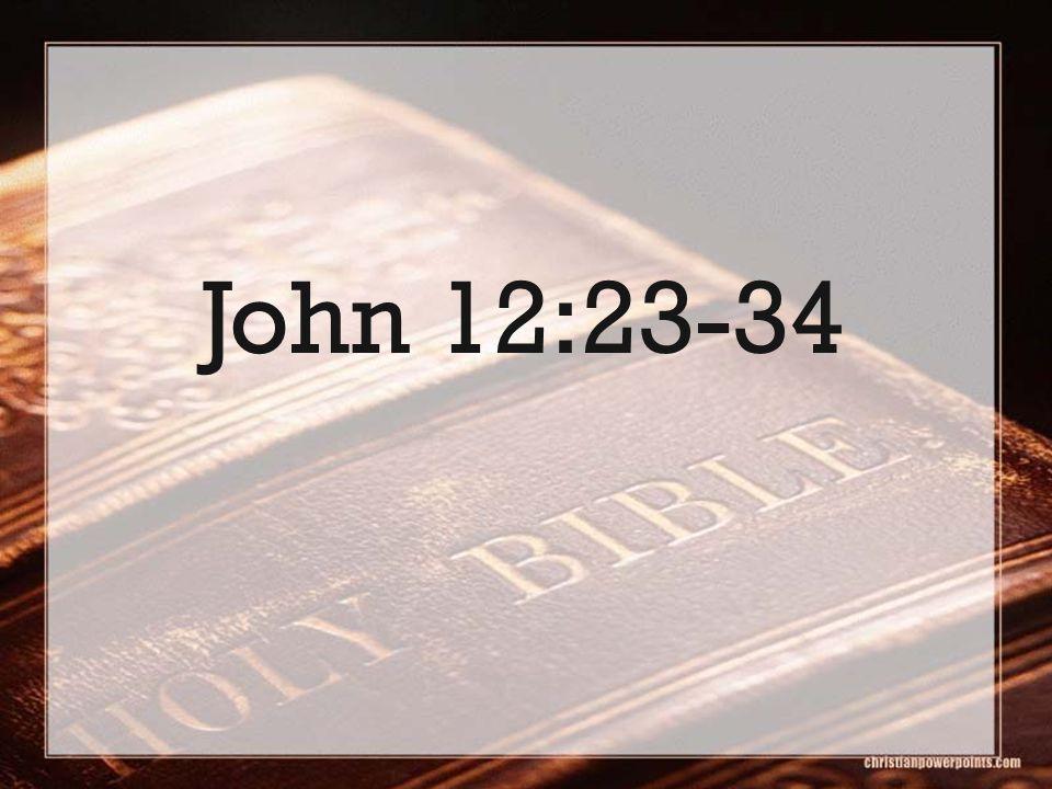 John 12:23-34