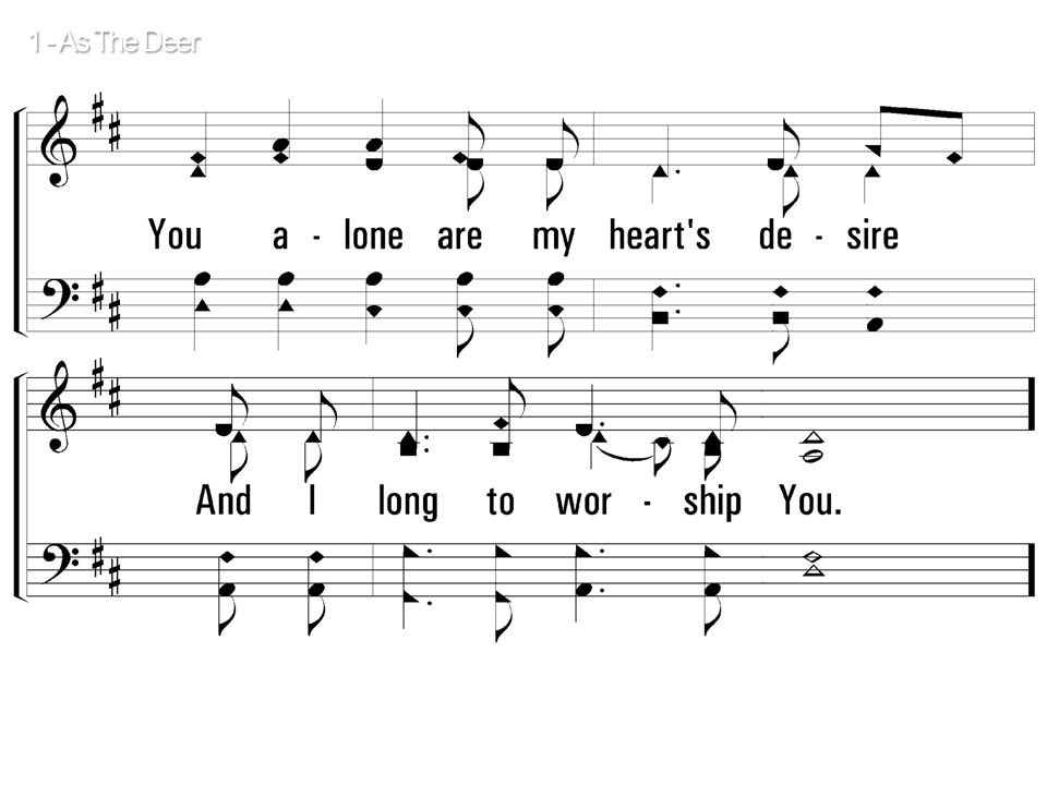 1 - As The Deer © 2001 The Paperless Hymnal™