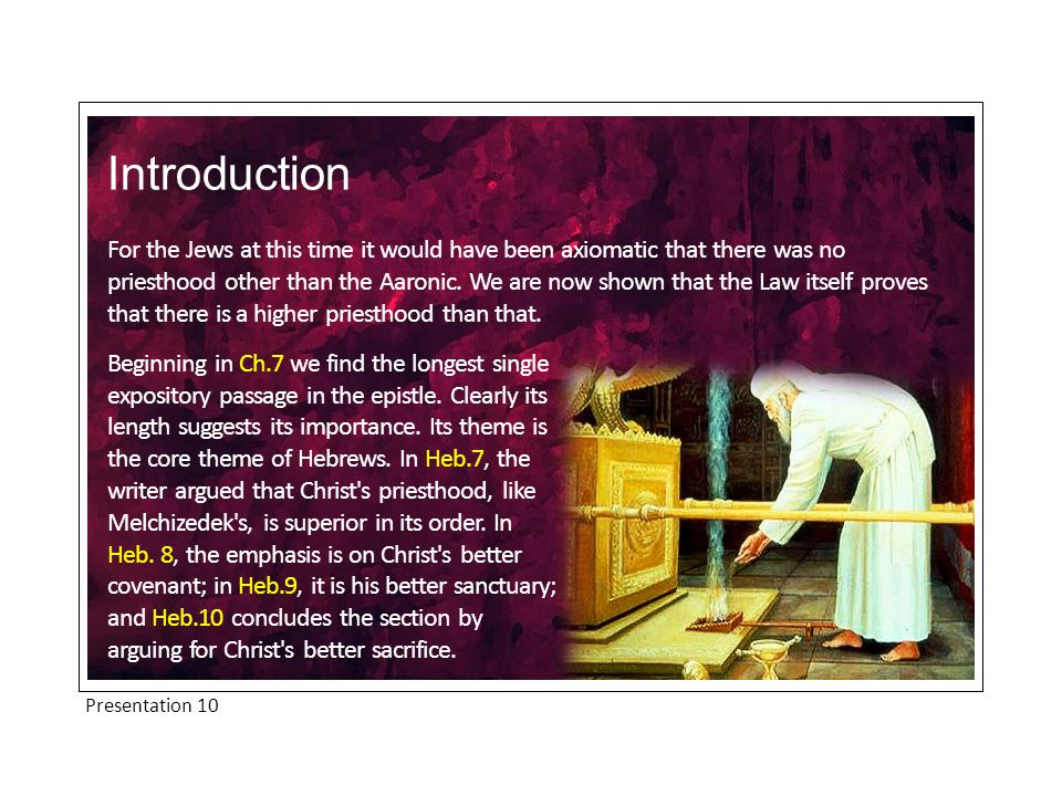 Introduction The great resource of Christians, when tempted to apostatize, is our high priest, Jesus Christ.