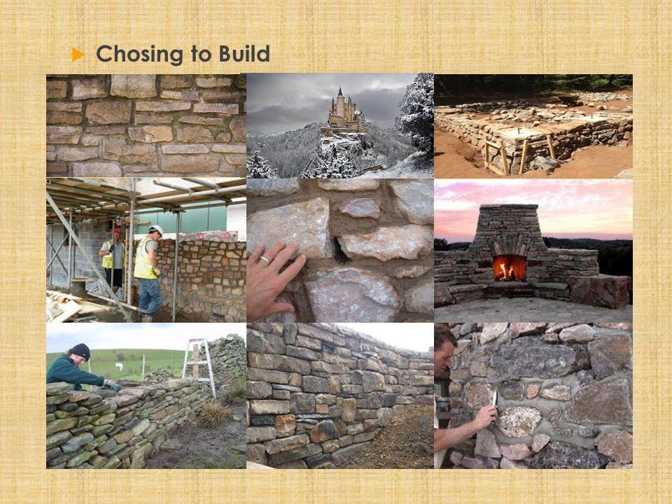  Chosing to Build