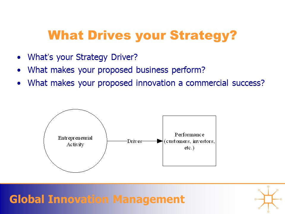 Global Innovation Management What Drives your Strategy.
