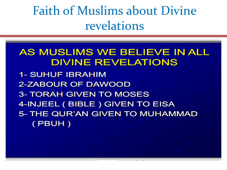 Faith of Muslims about Divine revelations