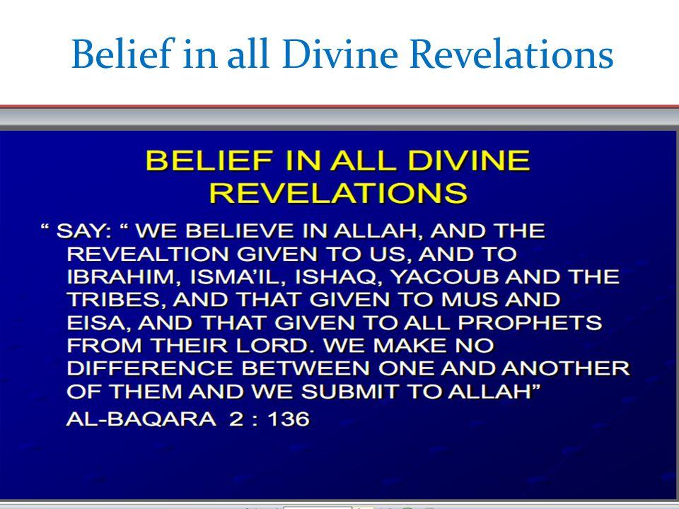 Belief in all Divine Revelations