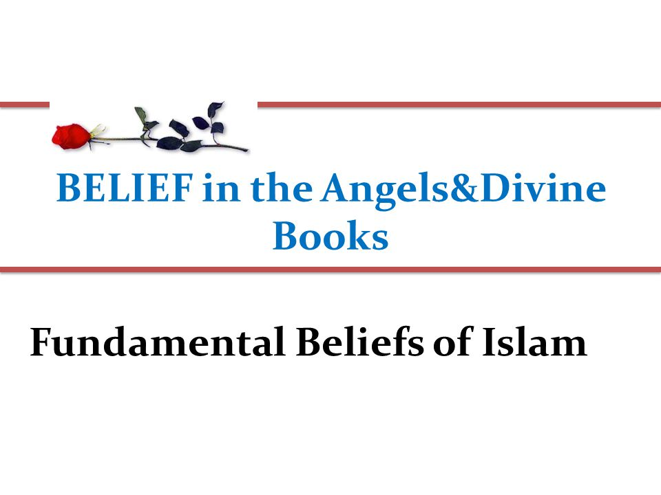 BELIEF in the Angels&Divine Books Fundamental Beliefs of Islam