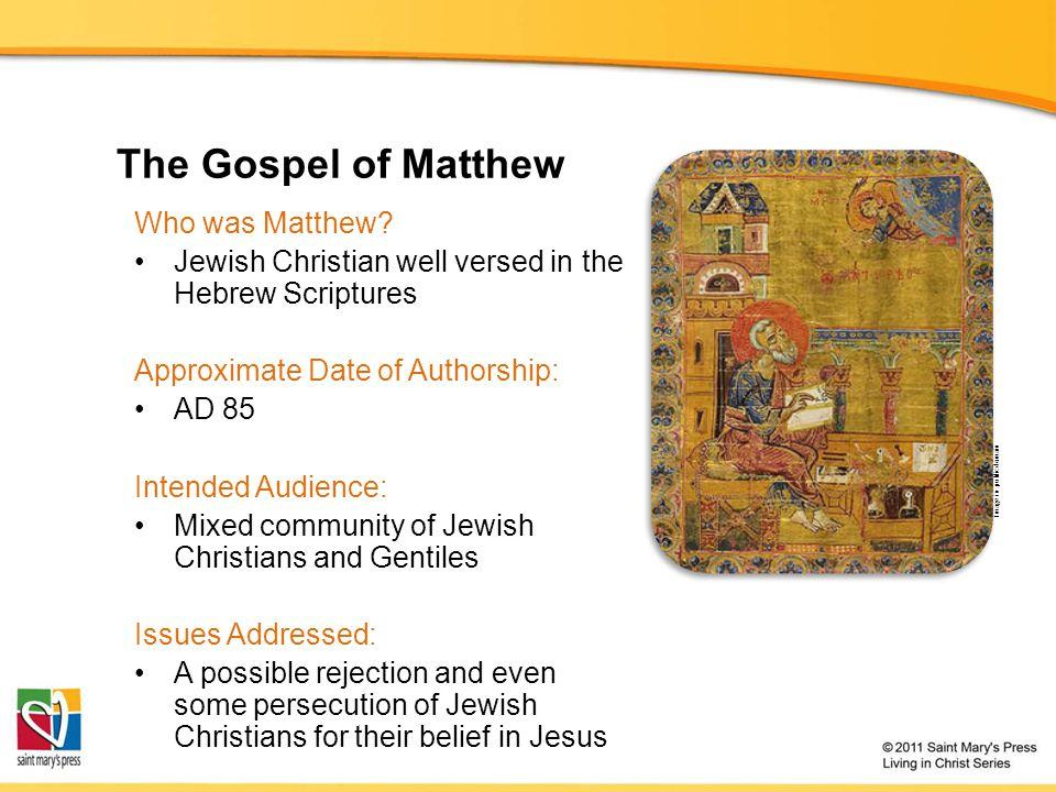 The Gospel of Matthew Who was Matthew.