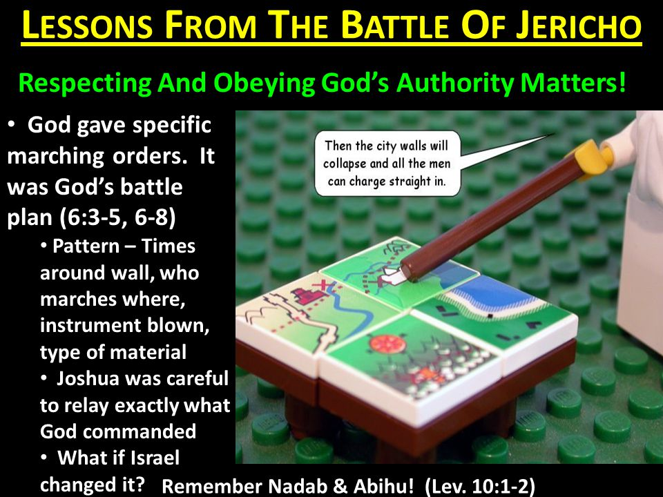L ESSONS F ROM T HE B ATTLE O F J ERICHO Respecting And Obeying God's Authority Matters.