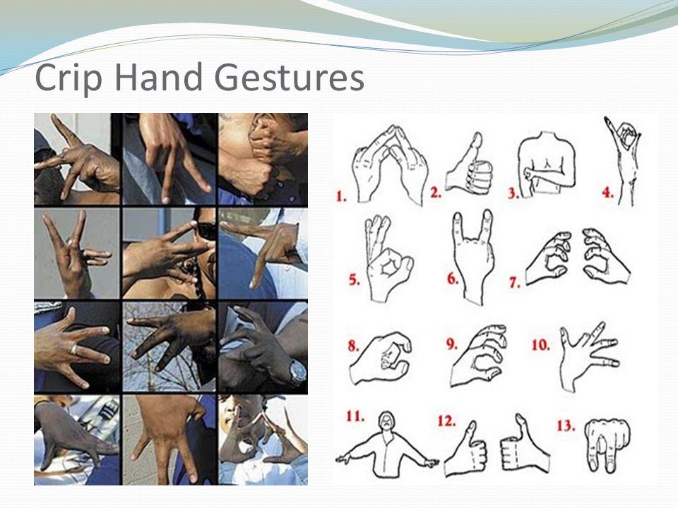 Crip Hand Gestures