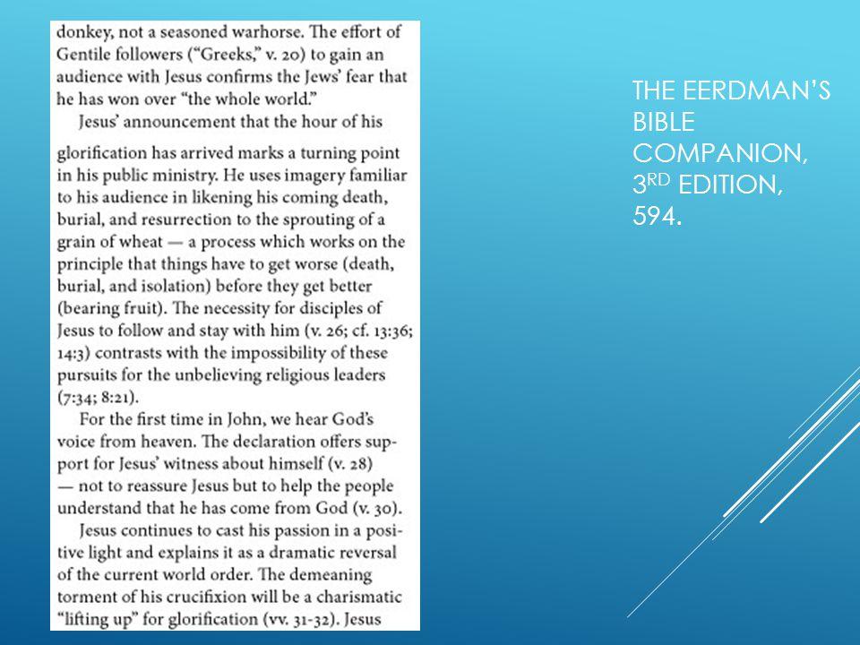 THE EERDMAN'S BIBLE COMPANION, 3 RD EDITION, 594.