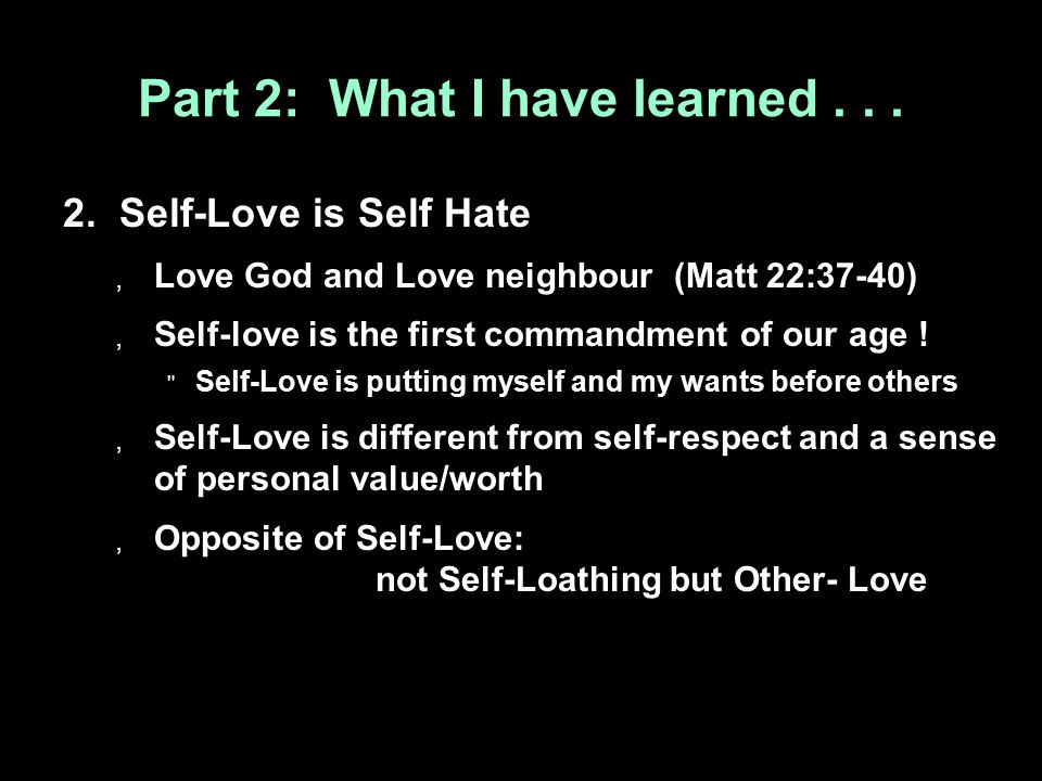 Part 2: What I have learned... 2.