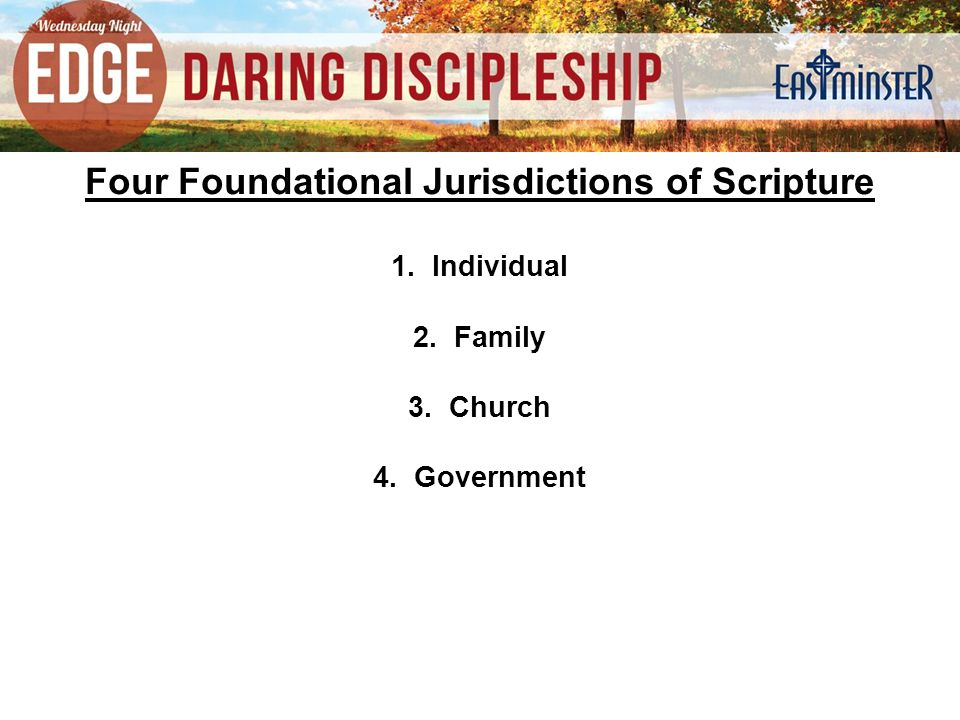 Four Foundational Jurisdictions of Scripture 1.