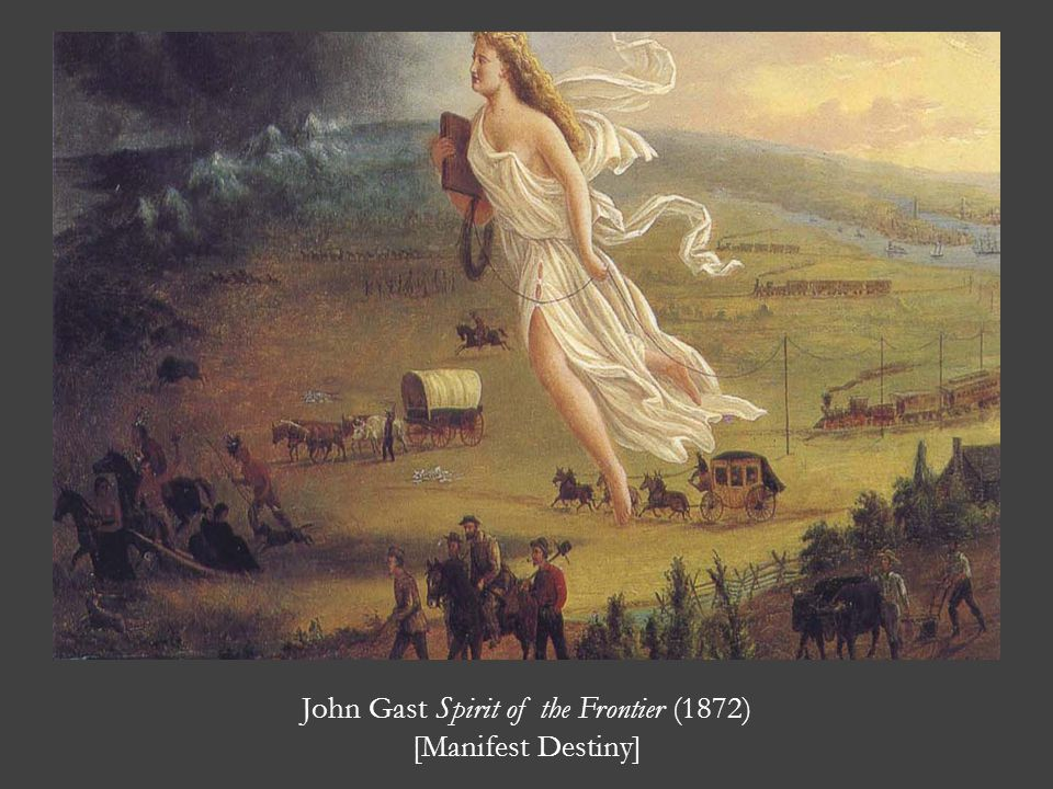 John Gast Spirit of the Frontier (1872) [Manifest Destiny]
