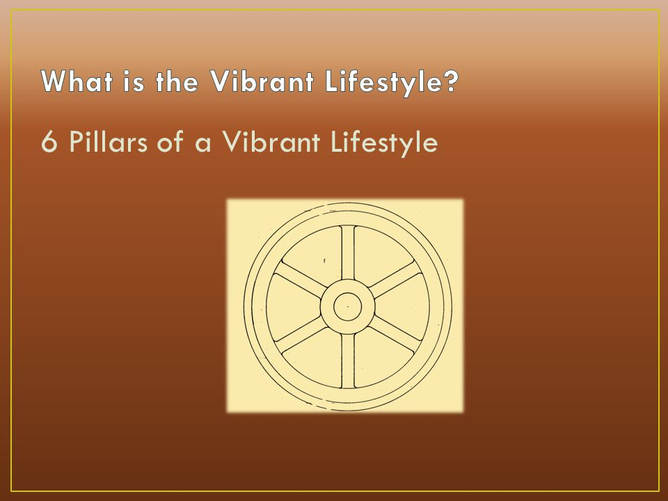 6 Pillars of a Vibrant Lifestyle