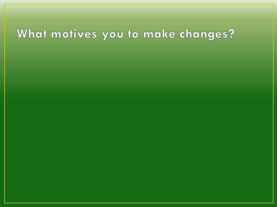 Crisis motivation? (negative)