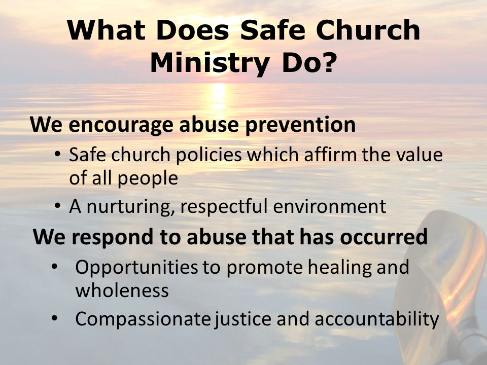 What Does Safe Church Ministry Do.