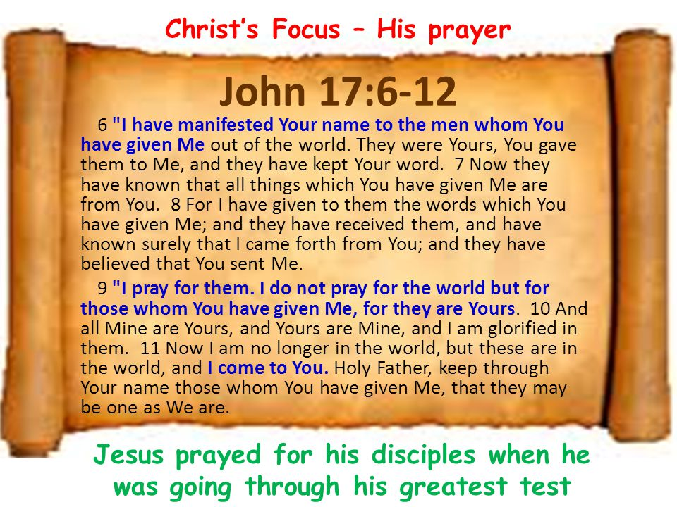 John 17:6-12 6