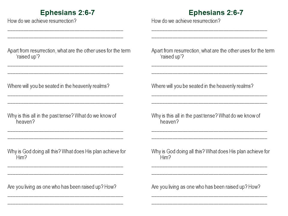 Ephesians 2:6-7 How do we achieve resurrection.