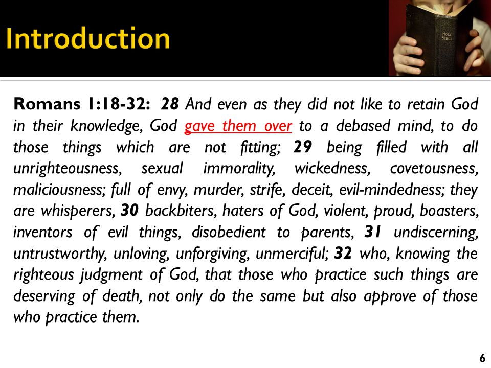 Eternal power and deity  Obligations to Our Creator  Significance of sin  Remedy for sin 7