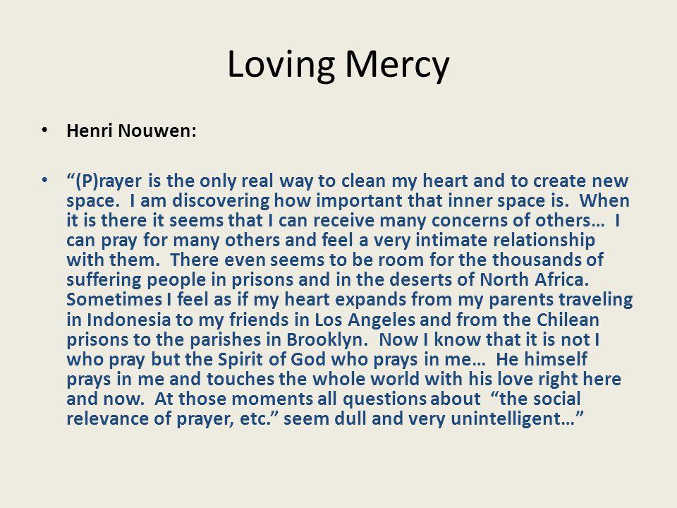 Loving Mercy New Hospitality Challenges 3.