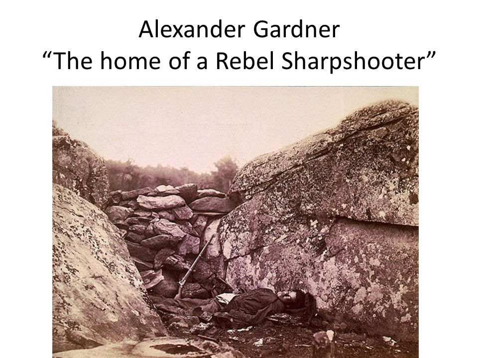 Alexander Gardner The home of a Rebel Sharpshooter