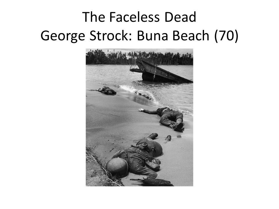 The Faceless Dead George Strock: Buna Beach (70)