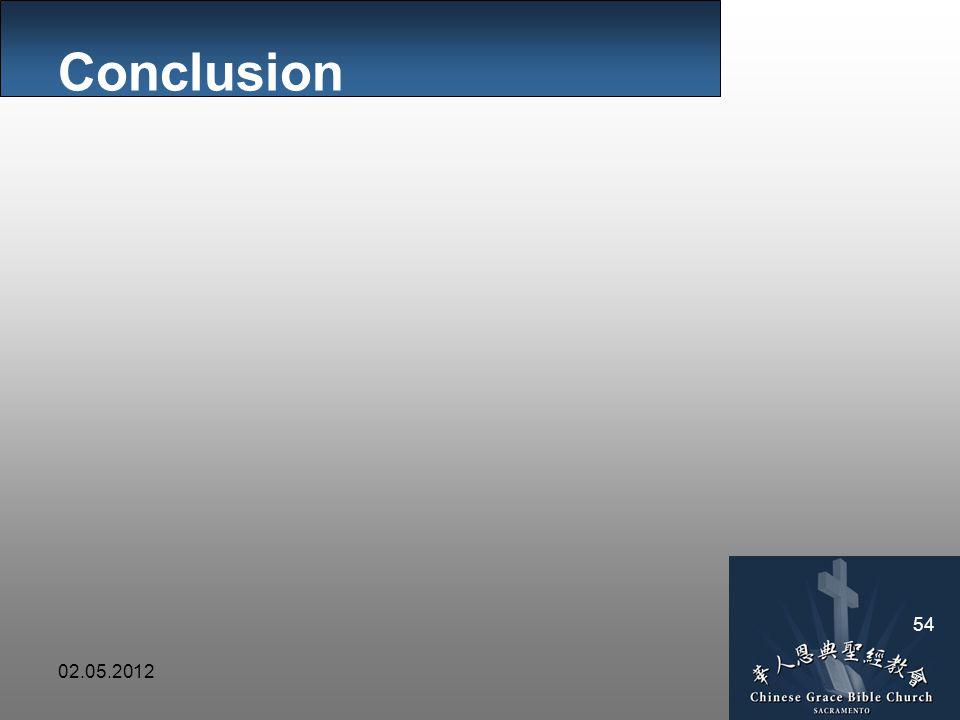 02.05.2012 54 Conclusion