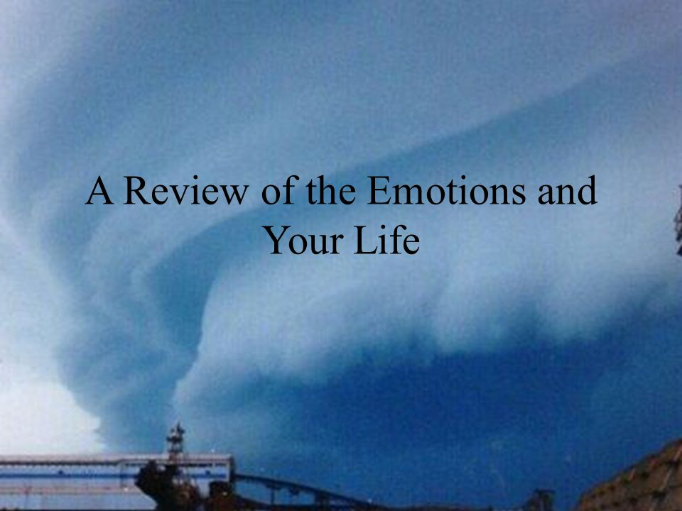A Review of the Emotions and Your Life