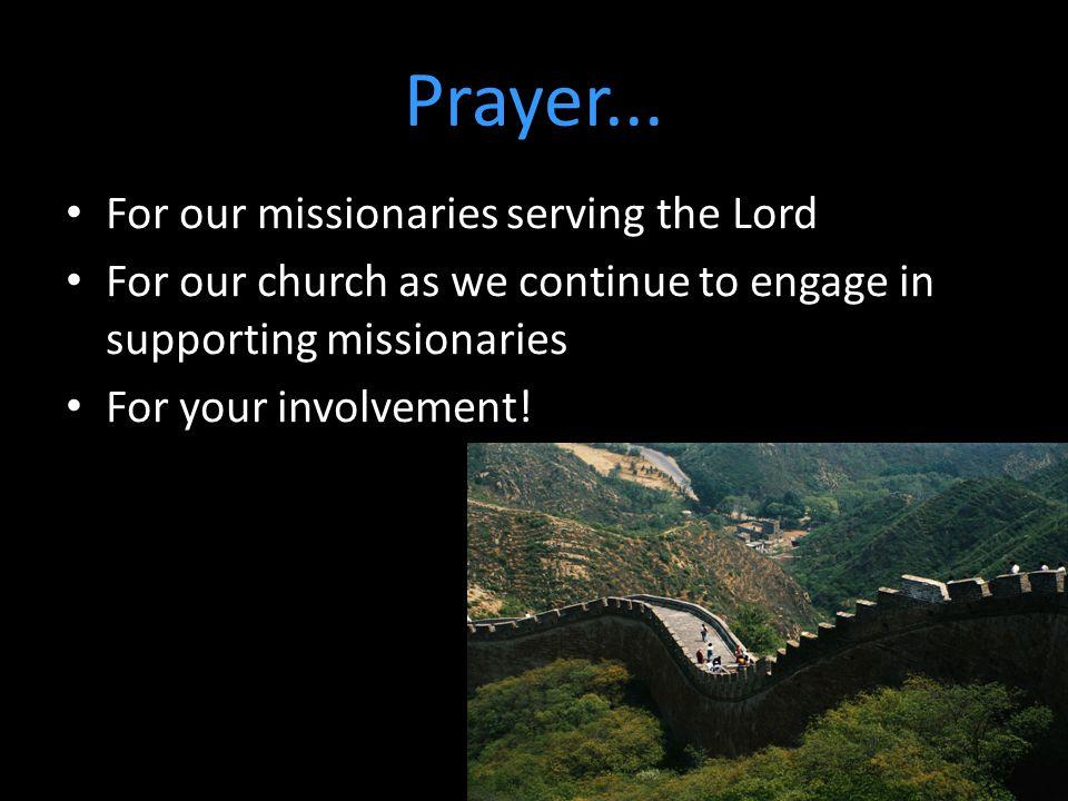 Prayer...