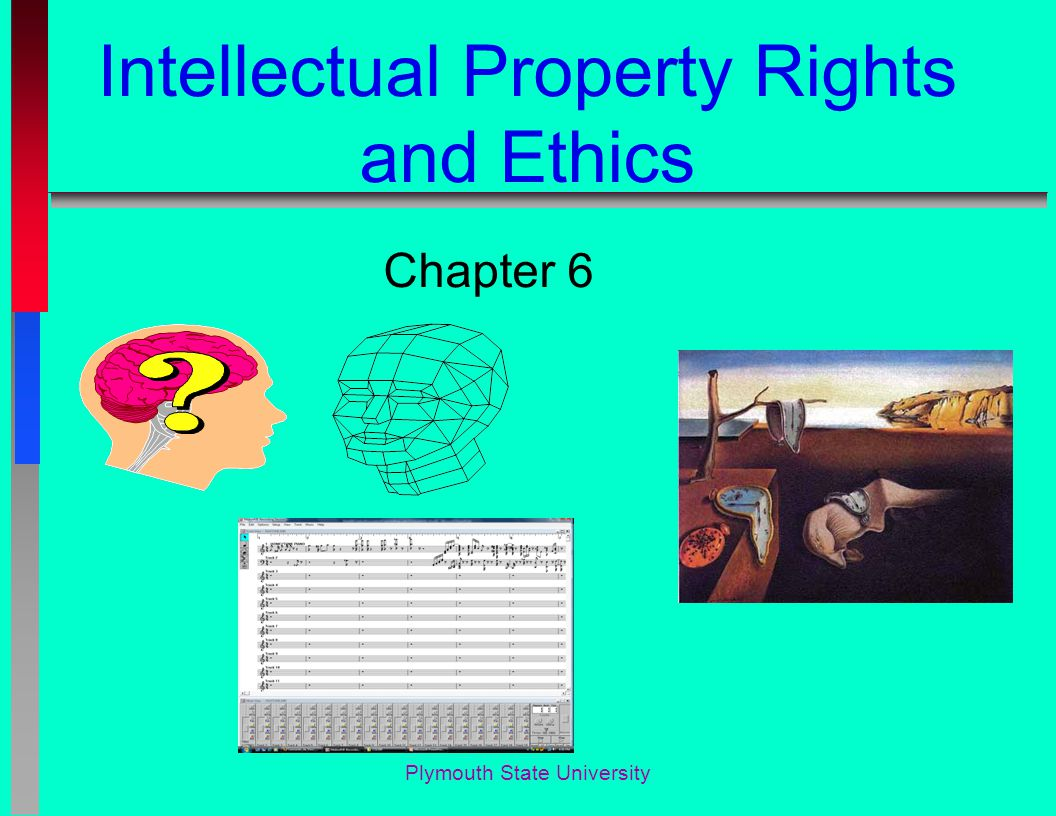 Plymouth State University Intellectual Property Rights and Ethics Chapter 6