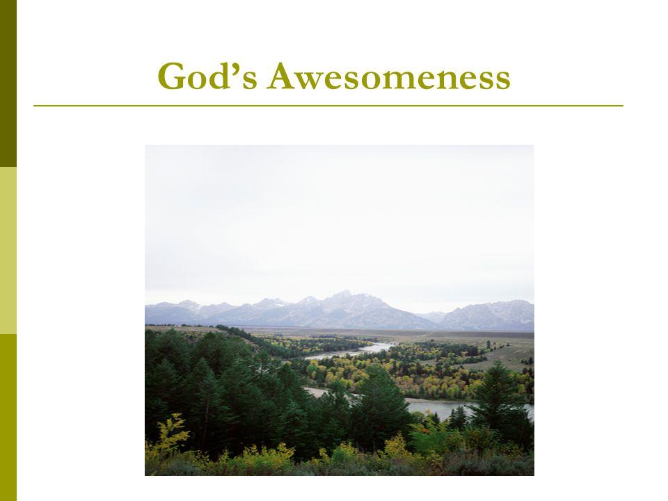 God's Awesomeness