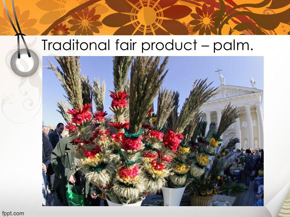 Traditonal fair product – palm.