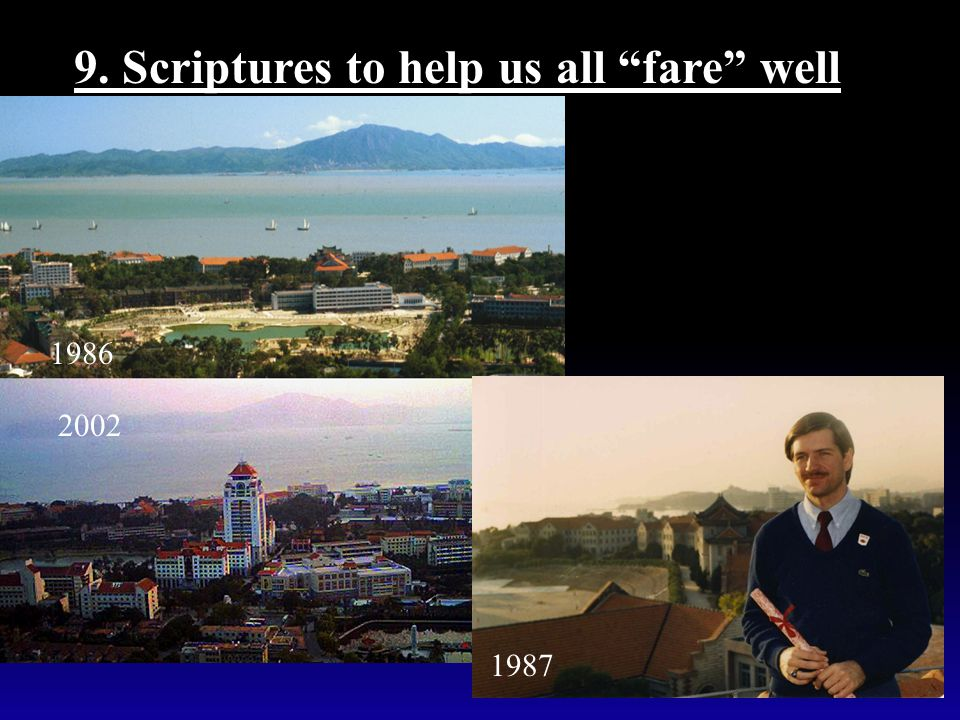 "9. Scriptures to help us all ""fare"" well Matt 28:16-20 1986 2002 1987"