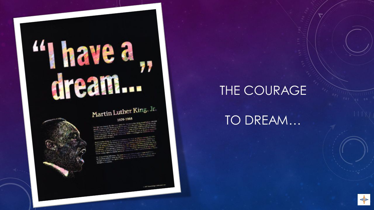 THE COURAGE TO DREAM…