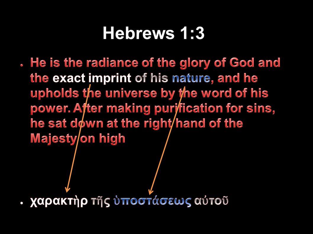 Hebrews 1:3 Applied-Apologetics44